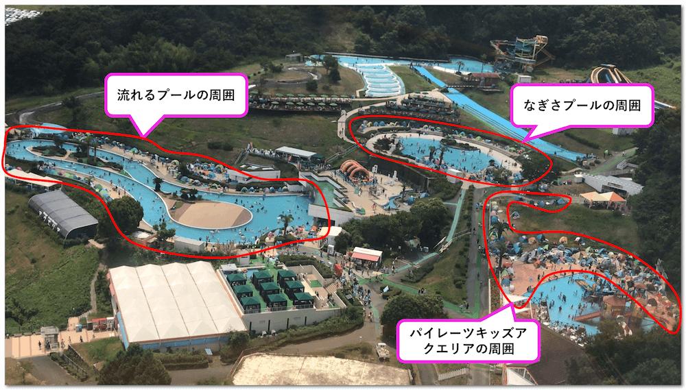 【写真あり】姫路セントラルパークのプールにテントは持ち込める?
