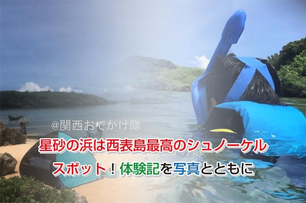 星砂の浜は西表島最高のシュノーケルスポット!体験記を写真とともに